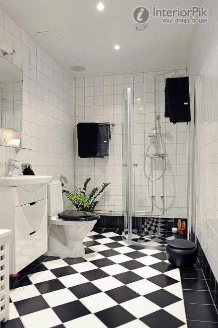 Bathroom Tiles Black And White black and white bathroom tile floor best 25+ black white bathrooms