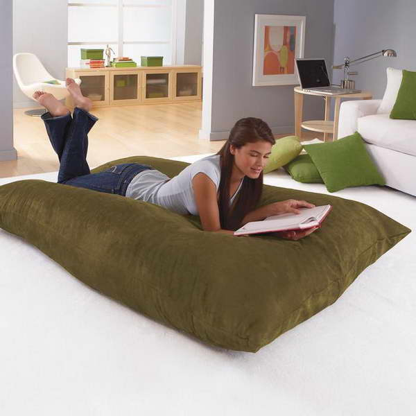 Charming Fun Giant Floor Pillow Giant Floor Pillow Sofa With White