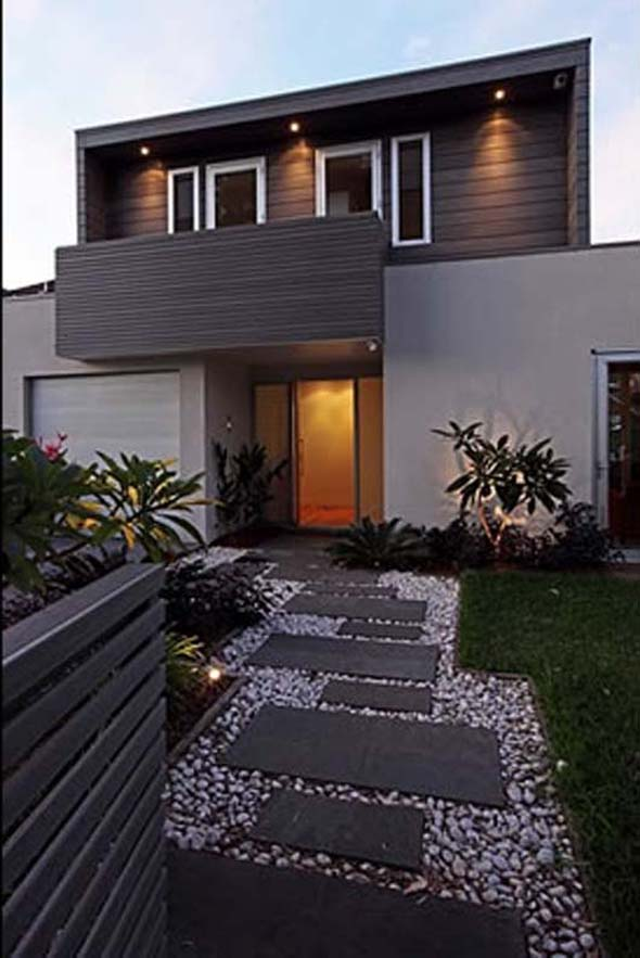 modern family house design ideas decorating ideas modern family home design front yard ideasjpg - Modern Front Yard Garden Ideas