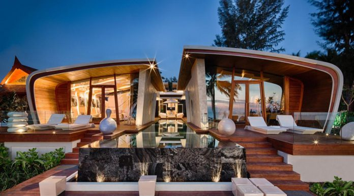 Unique Beach House Design in Phuket Thailand with Unusual Wood Roofing