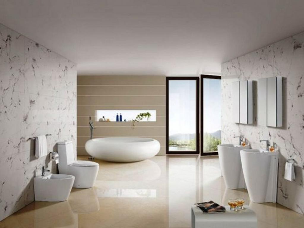 minimalist-modern-spa-bathroom-with-unique-ovale-tub