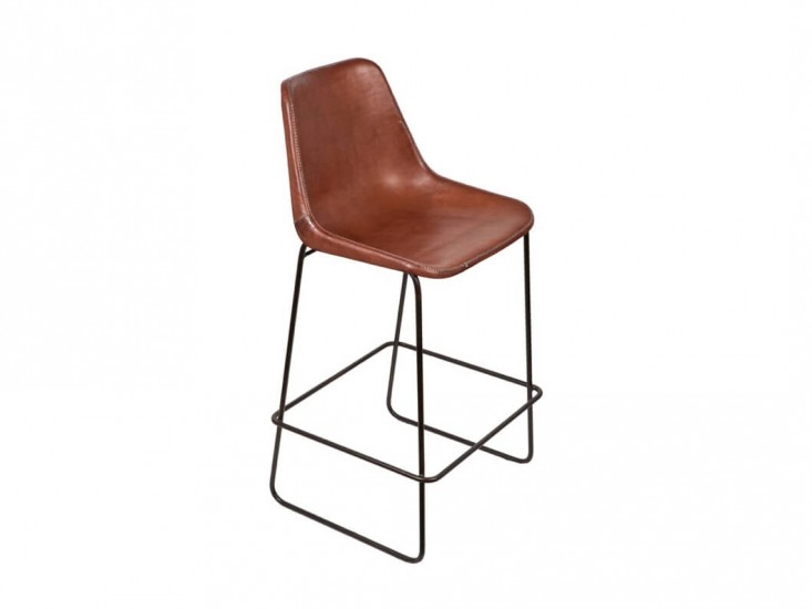 10 Easy Pieces Leather Barstools Remodelista regarding brown leather bar stools for Current House