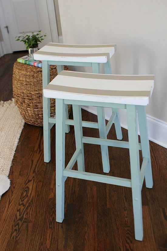 1000 Ideas About Bar Stool Makeover On Pinterest Stool Makeover regarding painted bar stools intended for Motivate
