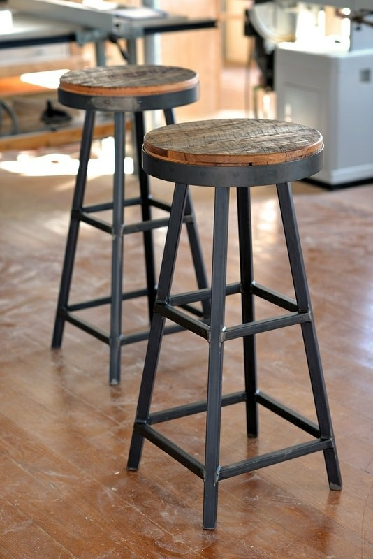 1000 Ideas About Industrial Bar Stools On Pinterest Industrial with regard to Iron And Wood Bar Stools