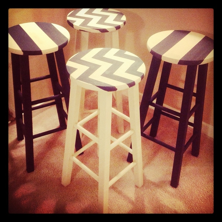 1000 Ideas About Painted Bar Stools On Pinterest Bar Stool with Painted Bar Stools