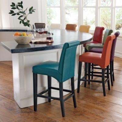 1000 Ideas About White Leather Bar Stools On Pinterest Stool intended for Colored Bar Stools