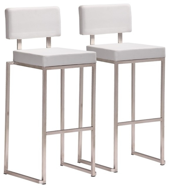 1000 Images About Brushed Nickel Bar Stools On Pinterest inside white modern bar stools for Your own home