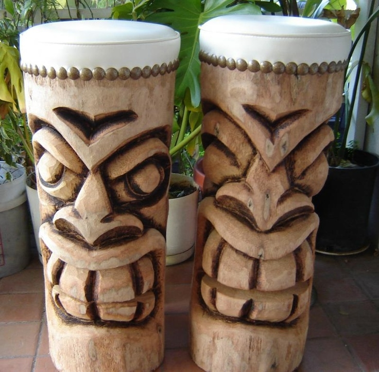 1000 Images About Carving On Pinterest Tiki Totem Tiki Statues intended for Tiki Bar Stools