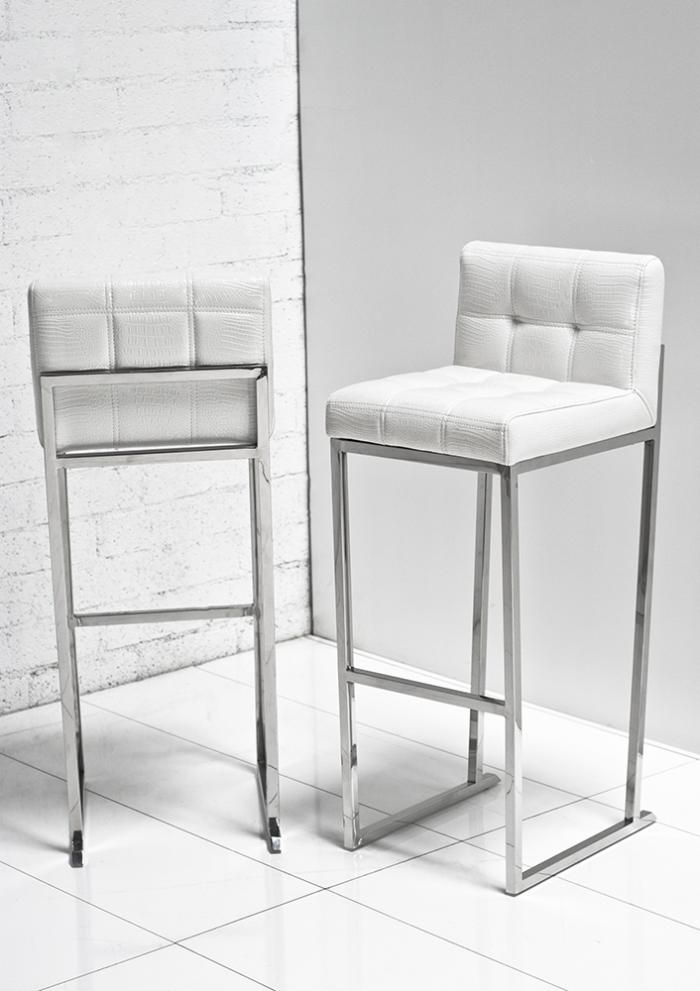 1000 Images About Peninsula Seating On Pinterest Bar Stools with white leather bar stools regarding Home