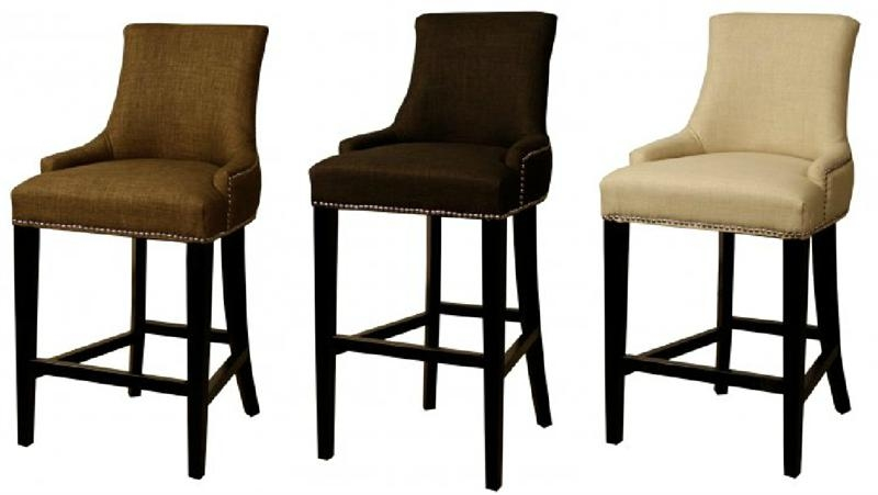 Bar Stools Benches And Stools On Pinterest inside The Awesome  cloth bar stools intended for The house