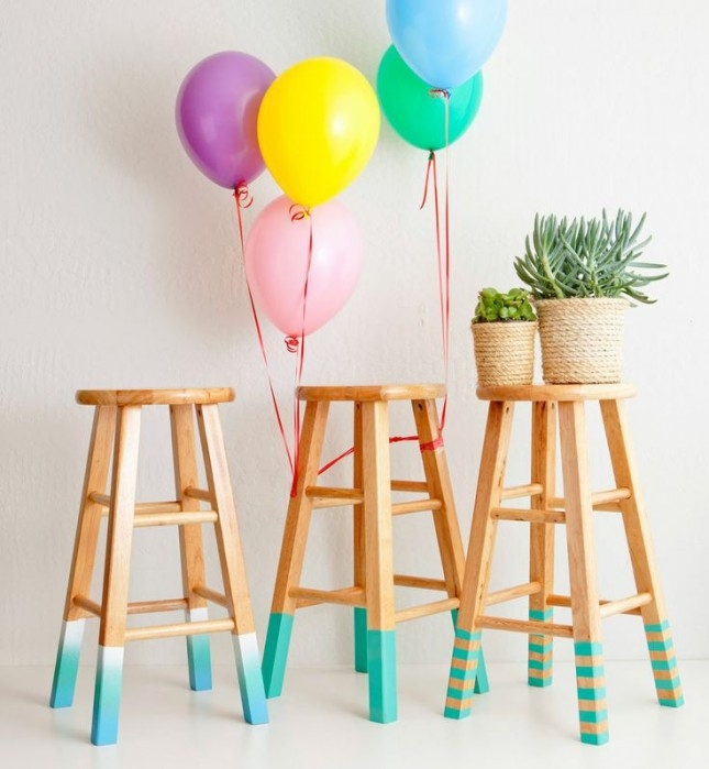 12 Bright Ways To Give Your Bar Stools A Serious Upgrade Brit Co pertaining to Awesome  colored bar stools intended for Inviting