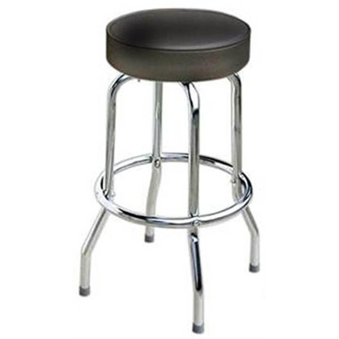 14 Inch Round X 29 34 Inch H Black Seat Single Ring Bar Stool in round bar stools intended for Residence