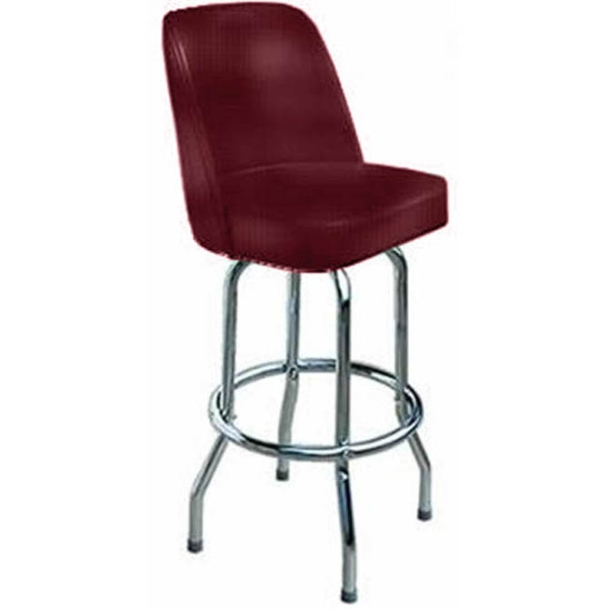 16 Inch D X 17 Inch W X 43 Inch H Crimson Seat Single Ring Bar Stool within restaurant swivel bar stools intended for The house
