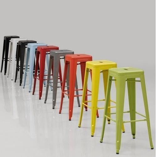 2 Bar Stools Metal 24 Kitchen Counter Stackable Barstool Modern in Stylish in addition to Beautiful stackable bar stools intended for Property