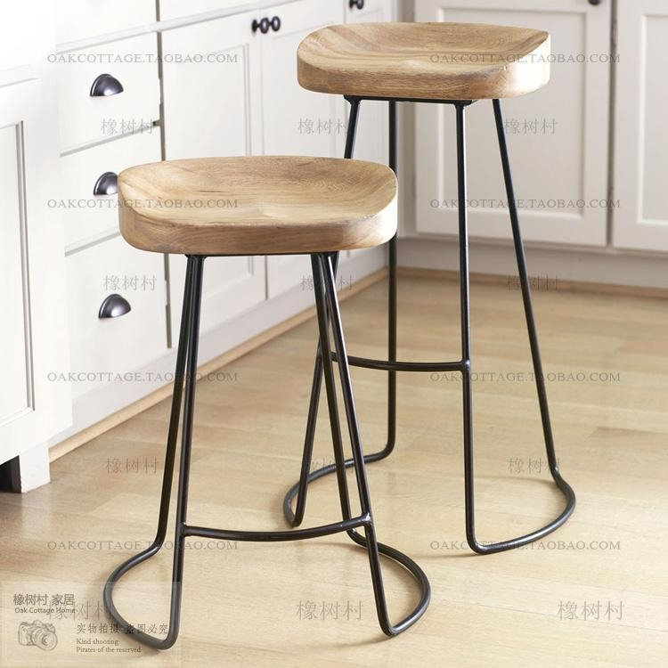 2017 American Bar Stool Bar Stool Wood Bar Stools Iron Bar Chairs within Iron And Wood Bar Stools