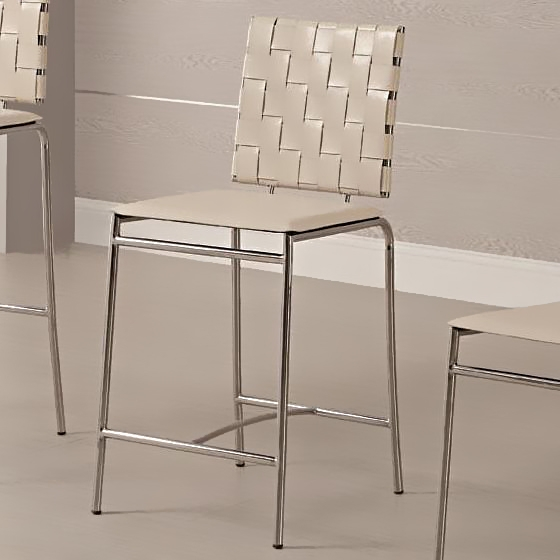 24quot Metal Barstool With Faux Leather Upholstery Bar Stools intended for 24 Metal Bar Stools