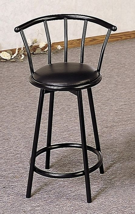 24quot Swivel Bar Stool With Back In Black Bar Stools with black swivel bar stools with back pertaining to Comfortable