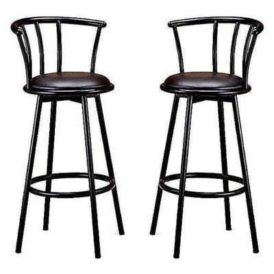 29 Inch Black Finish Swivel Bar Stool Chairs Set Of Two with regard to The Most Brilliant and also Attractive black swivel bar stools intended for Property