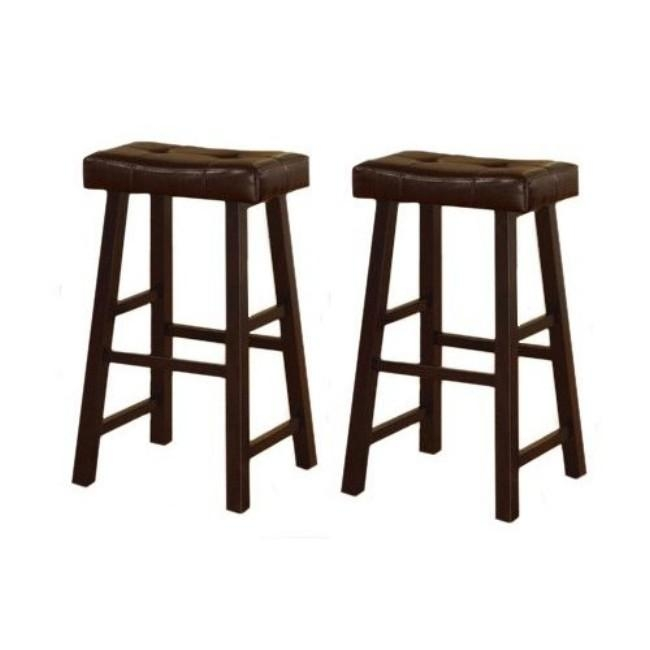 29 Inch Cherry Brown Leather Saddle Bar Stools Set Of 2 regarding Brilliant as well as Interesting 29 inch bar stools pertaining to  Property