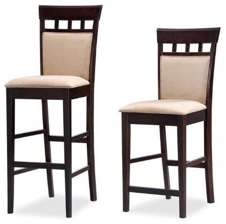 29quoth Bar Stool Cappuccinosoft Mocha Coaster Set Of 2 Bar intended for 29 bar stools for Residence