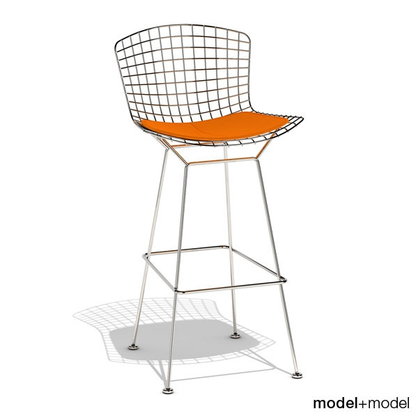 3d Bertoia Barstool Knoll Stool Model within Knoll Bertoia Bar Stool