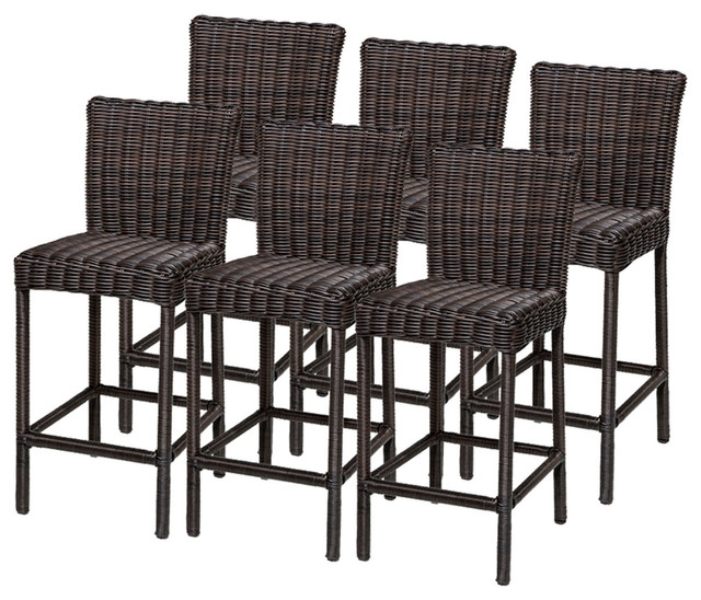6 Rustico Barstools W Back Tropical Outdoor Bar Stools And regarding The Most Elegant  outdoor bar stools with backs intended for Existing Home