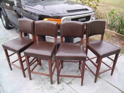 90 4 Bar Stools Pier 1 Brown Leatherwood 90 St Pete with regard to Bar Stools Pier One