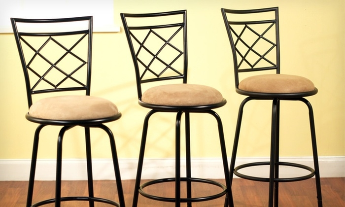 95 For An Avery Three Piece Bar Stool Set Groupon within The Brilliant  3 piece bar stool set with regard to Residence