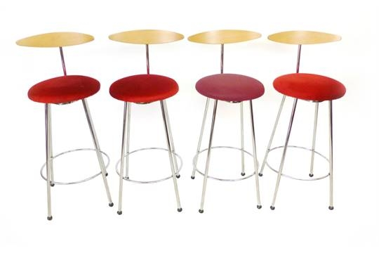A Set Of Four Italian Bar Stools With Bent Ply Back Rests inside The Amazing and Attractive effezeta bar stool regarding Your property