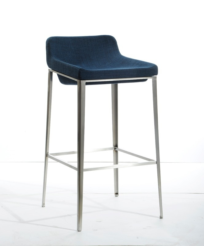 Kent Royal Blue Bonded Leather Bar Stool 15994684 Overstock with regard to The Incredible and also Attractive navy blue bar stools intended for Household
