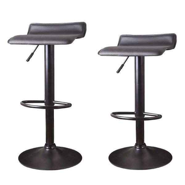 Adeco Hydraulic Lift Adjustable Low Back Barstool With Metal with regard to Hydraulic Bar Stools