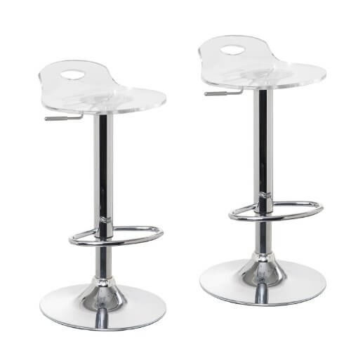 Adjustable Clear Bar Stools Pack Of 2 Oxygen Bar Manufacturing intended for The Elegant  clear bar stools with regard to Household