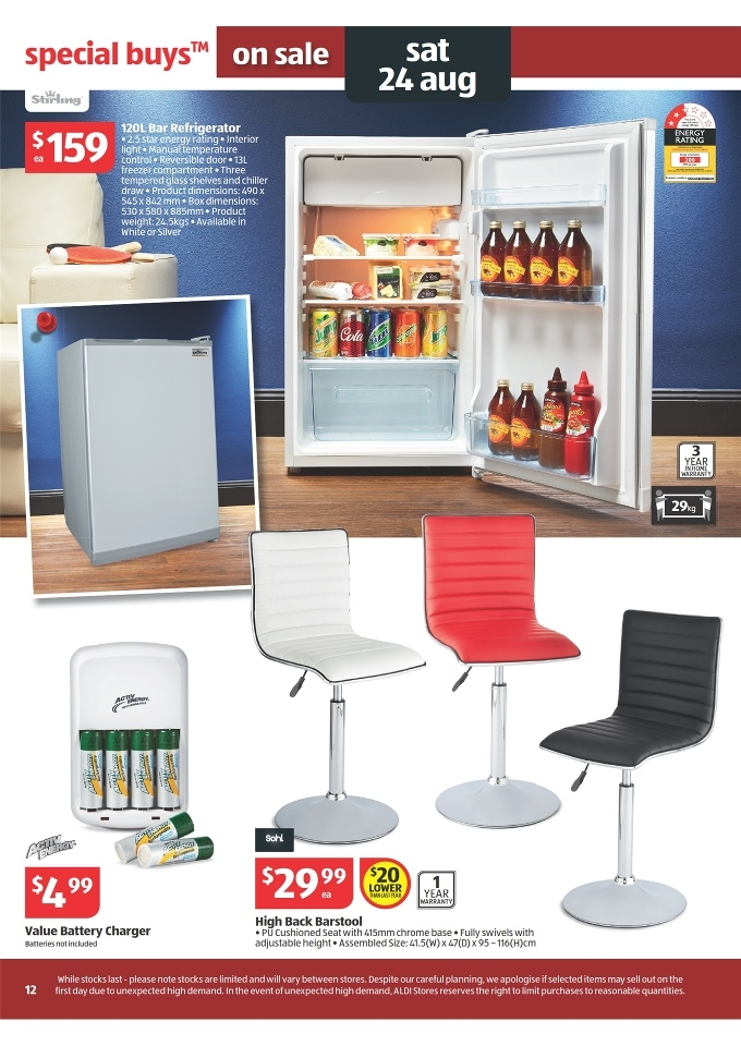 Aldi Catalogue Special Buys Week 34 2013 Page 12 with Elegant  aldi bar stools with regard to Really encourage