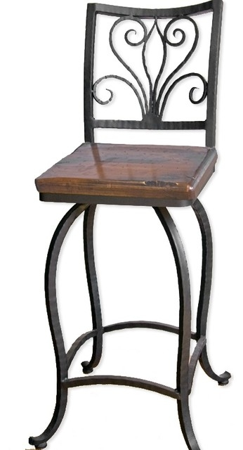 Alexander 30quot Swivel Bar Stool No Arms Traditional Bar Stools inside Wrought Iron Bar Stools