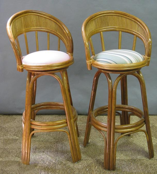 All About Wicker with Wicker Swivel Bar Stools