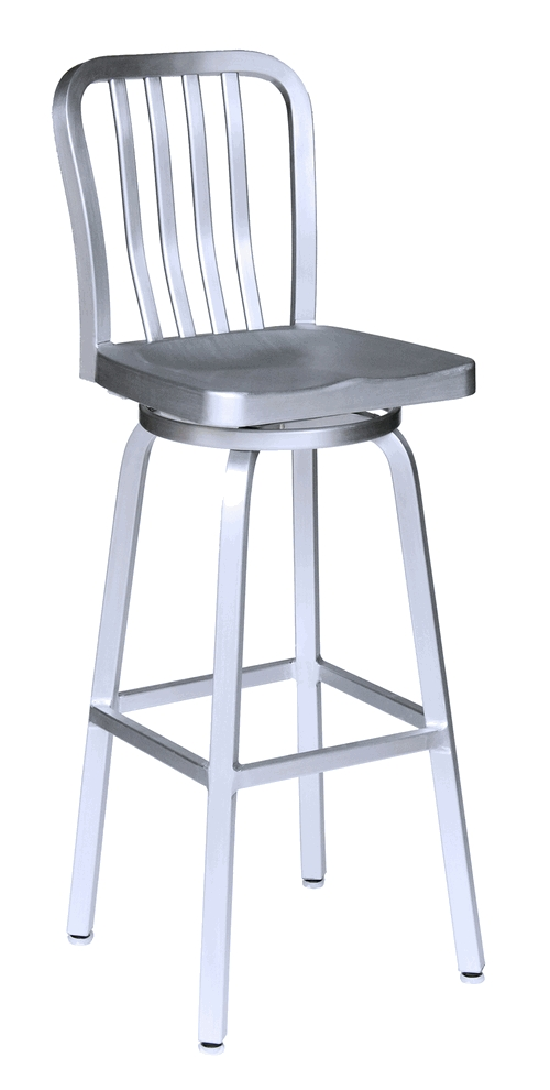 Aluminum Bar Stools 2 throughout aluminum swivel bar stools for Your own home