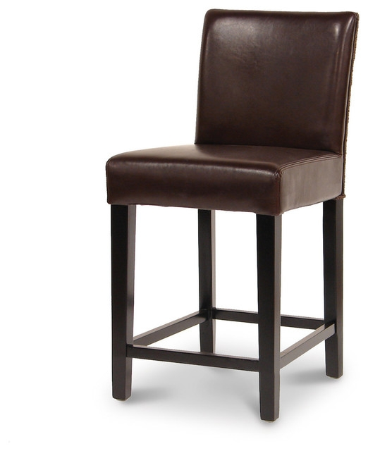 Amazing Brown Leather Bar Stool Stoolsonline Real Leather Bar pertaining to brown leather bar stools for Current House