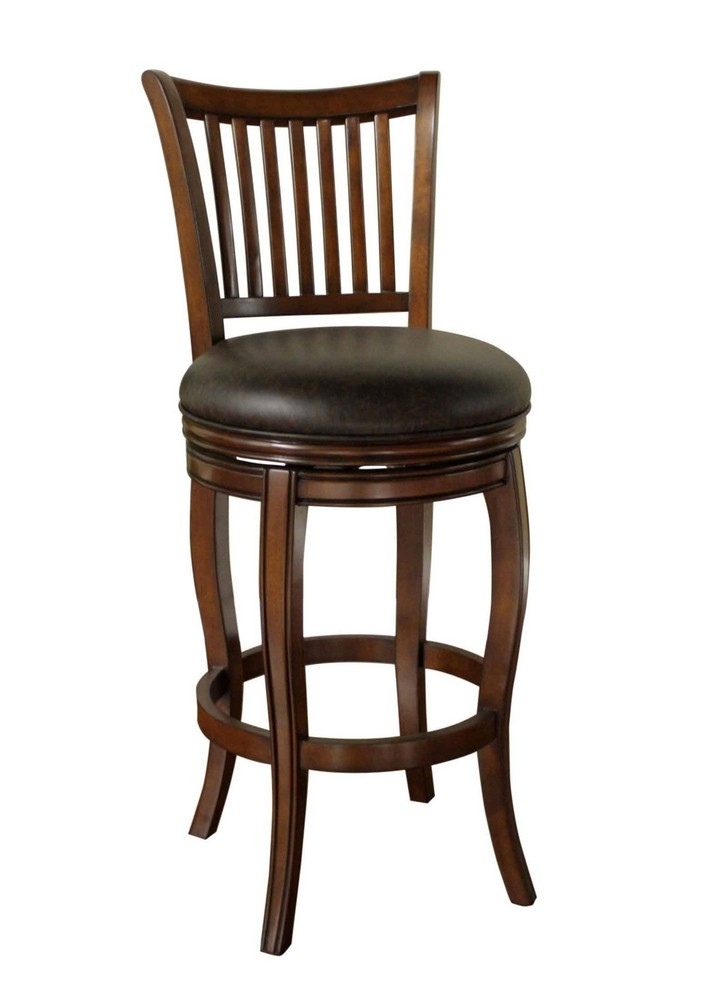 American Heritage Maxwell 34 Inch Bar Stool In Brown Efurniture Mart in 34 Inch Bar Stools