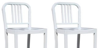 Amerihome 2 Piece Metal Counter Height Chair Set White Bar within Metal Counter Height Bar Stools