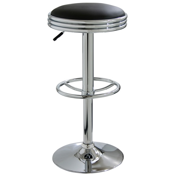 Amerihome Soda Style Adjustable Padded Barstool 11340602 in padded bar stools for Motivate