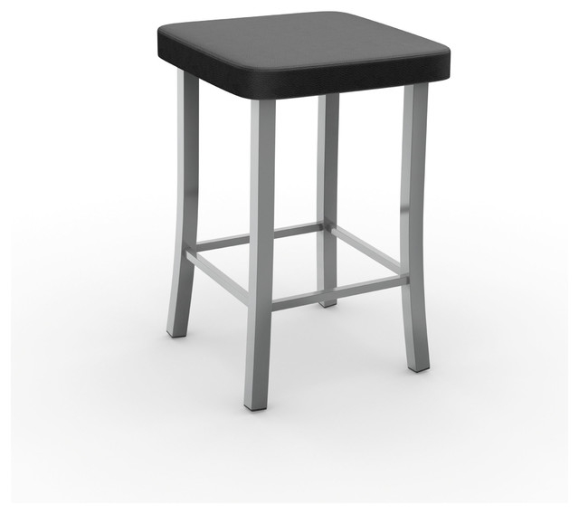 Amisco Ryan Metal Counter Stool 24quot Glossy Gray Charcoal Black for 24 Metal Bar Stools