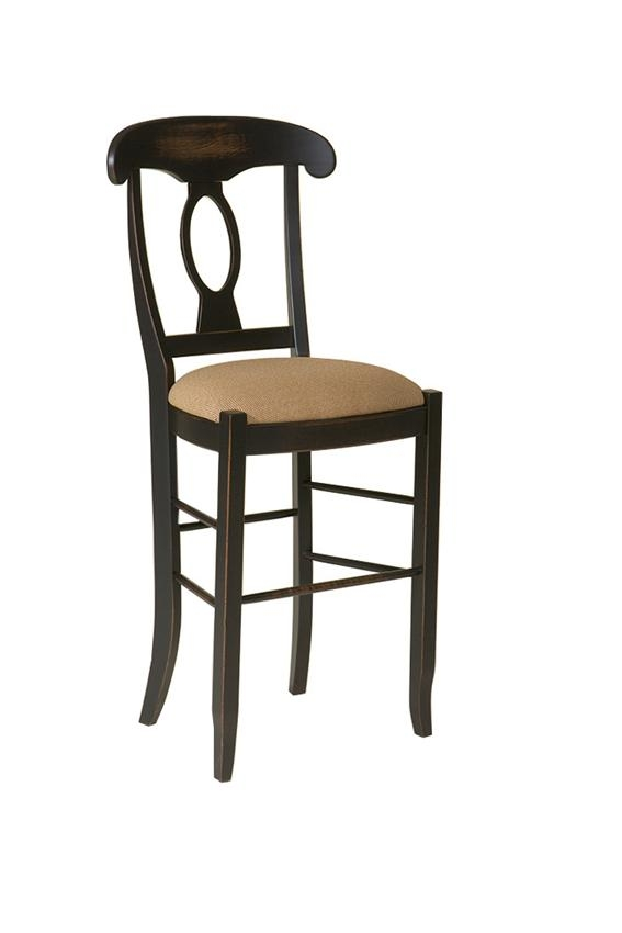 Amish Napoleon French Country Bar Stool Solid Wood Made In Usa with French Country Bar Stools