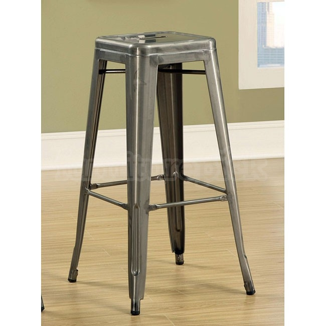 Antique Silver 30 Inch Metal Bar Stool Set Of 2 Coaster inside The Elegant  silver metal bar stools for Inspire