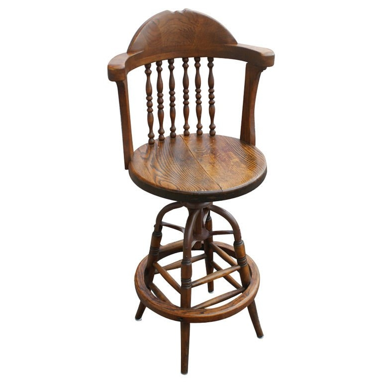 Antique Swivel Oak Drafting Or Bar Stool At 1stdibs with regard to Amazing  antique bar stools with regard to Aspiration
