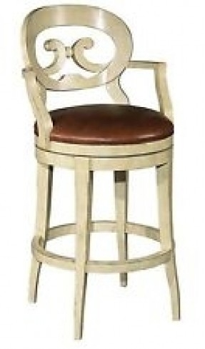 Antique White Swivel Bar Stool Foter inside Antique White Bar Stools