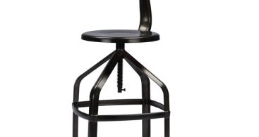 Architect39s Industrial Bar Stool With Backrest In Gun Metal with bar stool with backrest with regard to Your own home