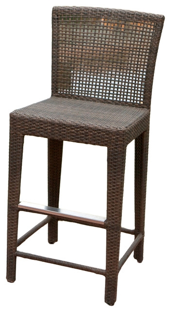 Arizona Outdoor Wicker Bar Stool Transitional Outdoor Bar for Wicker Bar Stools With Backs