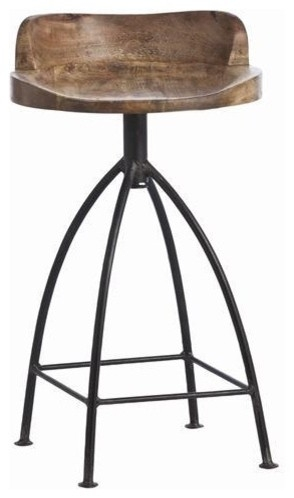 Arteriors Henson Wood Iron Swivel Stool Traditional Bar Stools for iron swivel bar stools with regard to Inspire