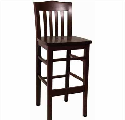 Ats Slat Back Wood Bar Stool 830 Bs with Wood Bar Stools With Back