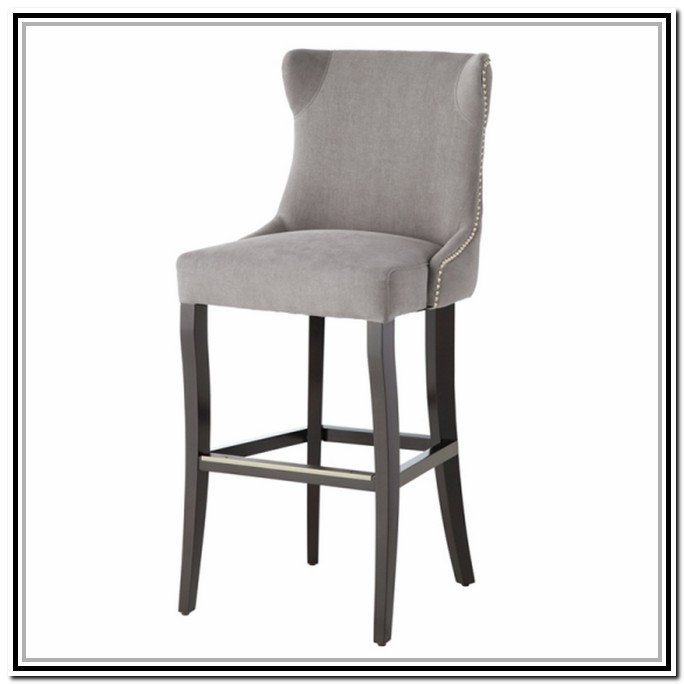 Attractive Grey Leather Bar Stool Counter Bar Stools Grey regarding Grey Bar Stools